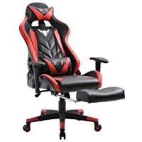 Amazon.com deals on Muzii Gaming Chair Reclining PU Leather Computer Gaming Chair