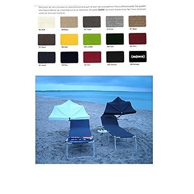 Anthracite chiné–Compartiments Sunrise Parasol–50+ Sunshade Beach de haute protection UV–Modèle: Holly and Shore® Plastique Qualité Agora