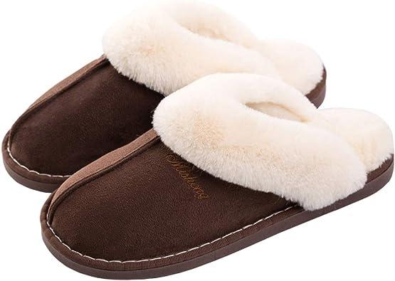 Slippers Fur Fluffy Soft Slip