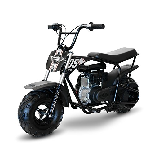 Monster Moto Limited Edition Black on Silver 105CC Mini Bike with Front Suspension-MM-B105-BBX by Monster Moto