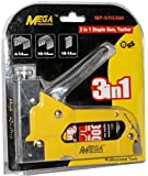 Digital Craft Mega Heavy Metal Stapler Gun for Wood, Plastic and Masonry MEGA Cordless Nailer (0 Gauge)