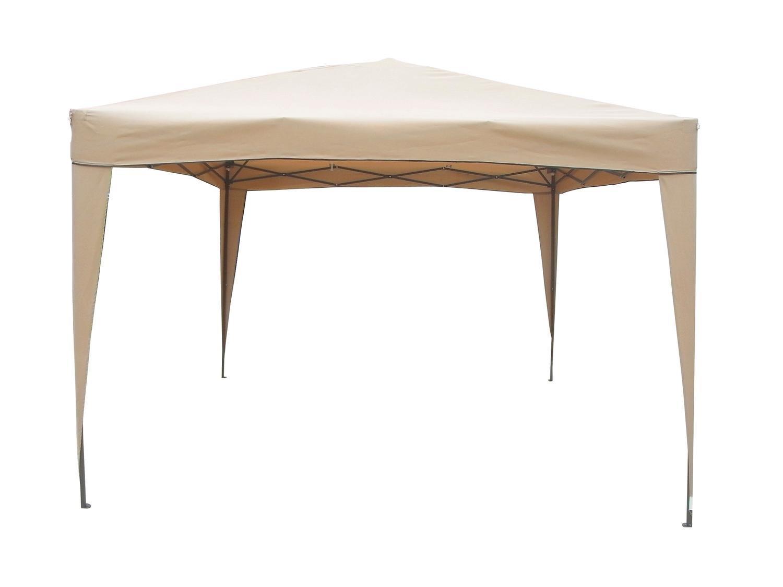 Northlight 10' x 10' Light Tan Beige Pop-Up Outdoor Garden Canopy Gazebo