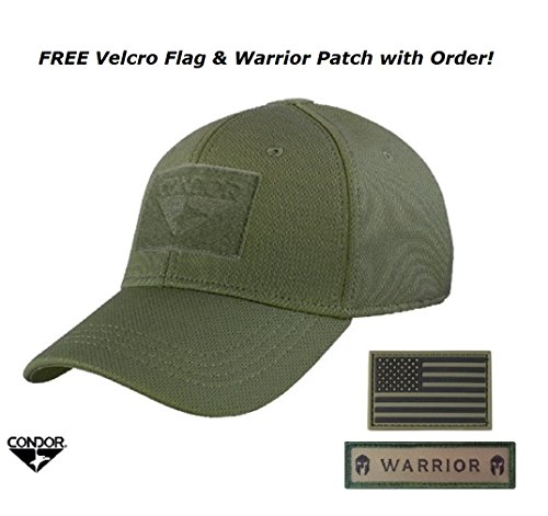 - Condor Flex Tactical Cap (OD Green, S/M) + FREE Flag Patch