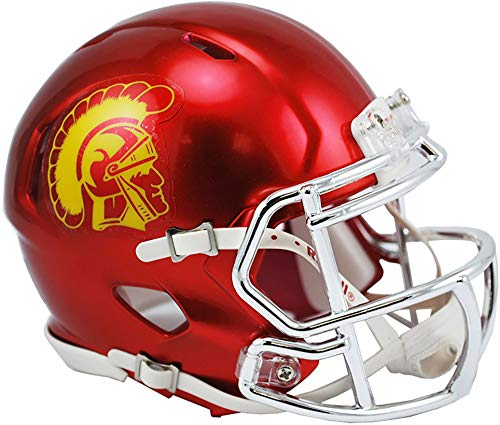Usc Mini Helmet - Sports Memorabilia Riddell USC Trojans Chrome Alternate Speed Mini Football Helmet - College Mini Helmets