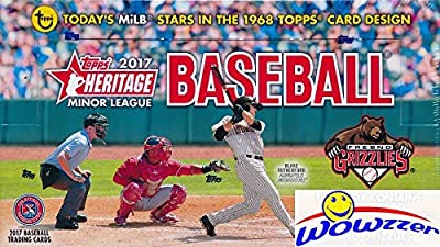 2017 Topps Heritage Minor League Baseball HUGE Factory Sealed HOBBY Box with AUTOGRAPH & MEMORABILIA Card! Absolutely Loaded with The Best Young Baseball Future Superstars in the Game! WOWZZER!