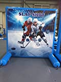 Hockey Game for Sealed Inflatable Air Frame Game with Panel, Hand Pump, and Stakes Included for Carnivals, Schools, Churches, Birthday Parties, and Other Events