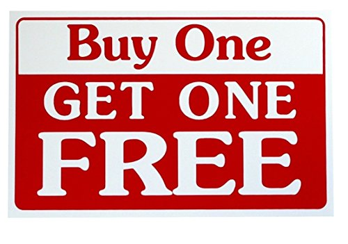 1-Pc Perfect Popular Buy One Get One Free Sign 1-Side Printed Store Message Promotion Size 7' x 11'