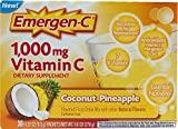 Emergen-C 1000 mg Vitamin C, Coconut Pineapple 30 ea Pack of 4