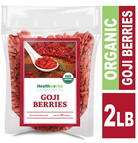 Healthworks Raw Goji Berries (32 Ounces / 2 Pound) | Certified Organic & Sun-Dried | Keto
