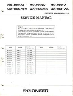 pioneer cx 118sm cx 118sm a cx 118sv cx 118sv a cx 118sfv cx 118sfvpioneer cx 118sm cx 118sm a cx 118sv cx 118sv a cx 118sfv cx 118sfv a cassette mechanism unit service manual, parts list, schematic wiring diagram pioneer