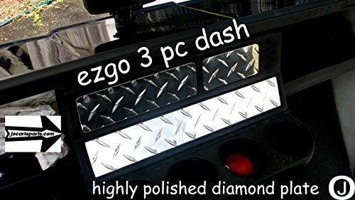 Ezgo TXT/Marathon Golf Cart 3 Pc Diamond Plate Dash Cover Set