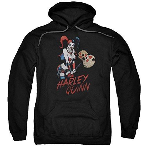 Hoodie: Harley Quinn- Hammer Time Pullover Hoodie Size L ()