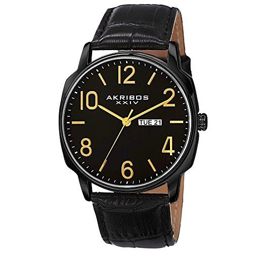 Akribos XXIV Men's AK885BK Quartz Multifunction Strap and Bracelet Watch Set by Akribos XXIV (Image #2)