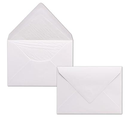 50 sobres color blanco – Din C6 – Forrado con papel de seda blanca – 100