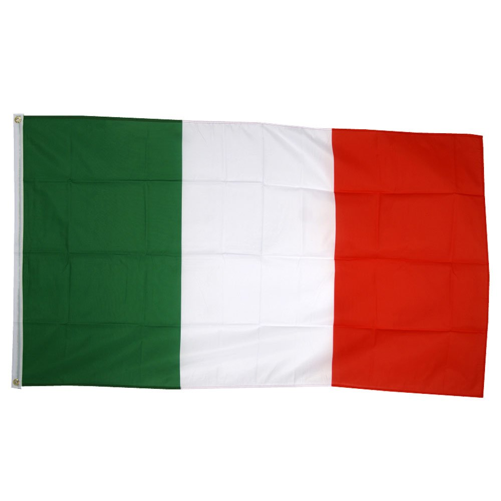 Supportershop Italie Drapeau de nation avec 2 /œillets m/étalliques Vert//Blanc//Rouge 1,50 x 0,90 m