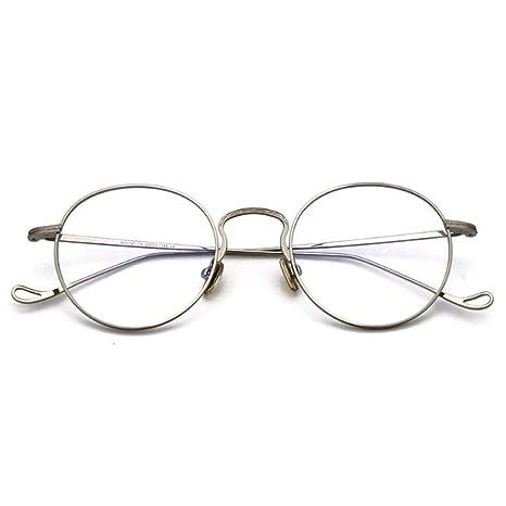 8a7f705bb1 HHL Occhiali da Vista Rotondi con Montatura in Metallo, Lenti retrò ...