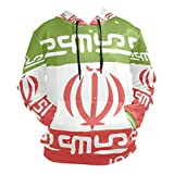 super3Dprinted Distressed Iran Flag Men's Pullover Hooded Sweatshirt