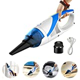 Handheld Mini Vacuum Cleaner Auto Car Dust Dirt Vacuum Cleaner - Blue