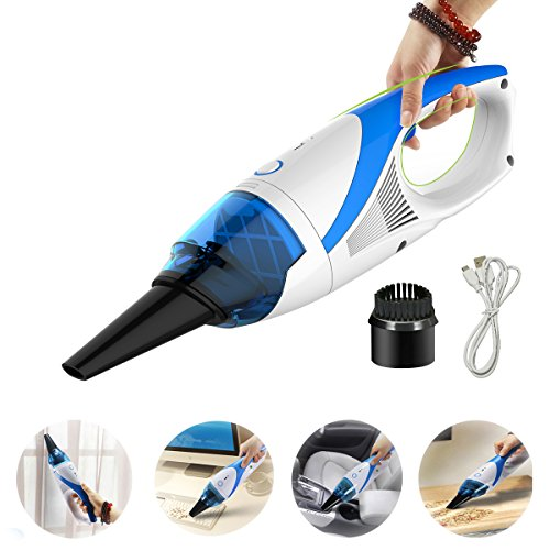 Handheld Mini Vacuum Cleaner Auto Car Dust Dirt Vacuum Cleaner - Blue by FINE DRAGON
