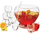 Libbey 56198 10 Piece Punch Bowl, Clear