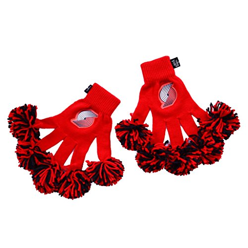 NBA Portland Trail Blazers Embroidered Spirit Fingerz Pom Pom Gloves (Best Nba Cheerleading Teams)