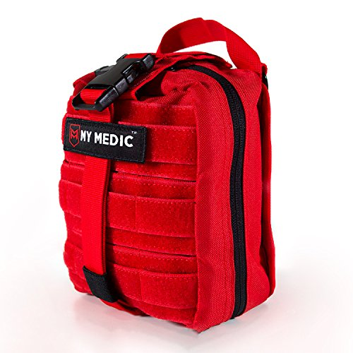 My Medic MyFak Backpack First Aid Kit (Red, Premium) Bayer First Aid Kit