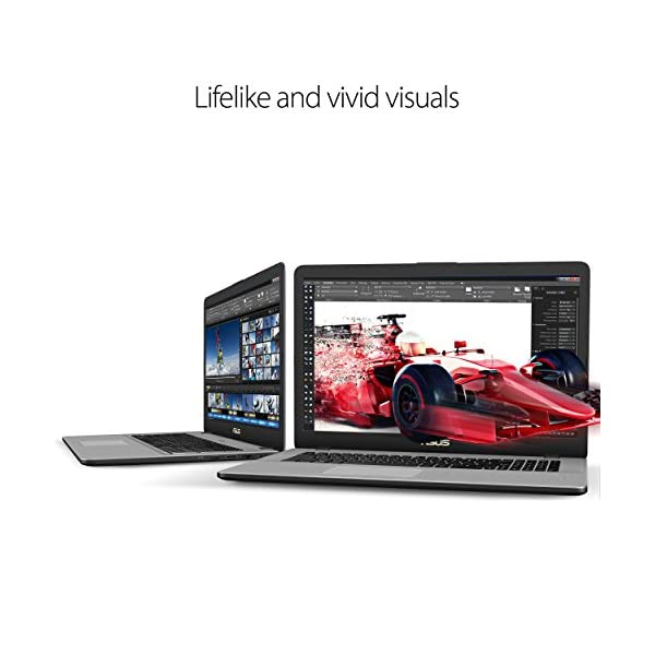 "ASUS VivoBook Pro Thin & Light Laptop, 17"" Full HD , Intel i7-8550U Processor, 16GB RAM, 256GB SSD + 1TB HDD, NVIDIA Gaming GeForce GTX 1050,Backlit Keyboard, Windows 10, Star Gray, N705UD-EH76 2"