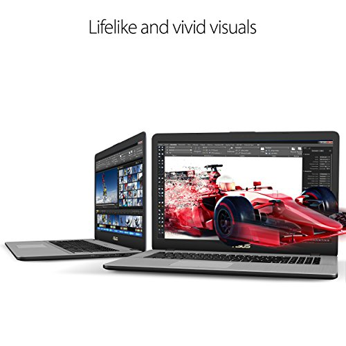 "ASUS VivoBook Pro 17 17.3"" Thin and Portable FHD Laptop, 7th Gen Intel Core i7-7500U Processor, NVIDIA GeForce 940MX Graphics, 8GB DDR4 RAM, 256GB SSD + 1TB HDD, USB-C, Backlit Keyboard, Windows 10"