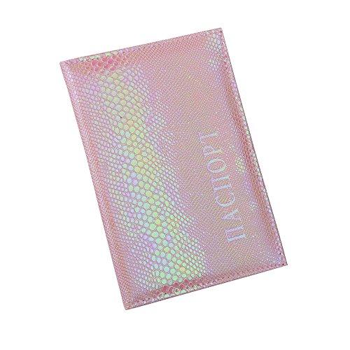 - Daopwlkom Soft Leather Passport Cover Passport Holder Passport Protector, Passport Business Card Wallet Travel Document Organizer (Pink)