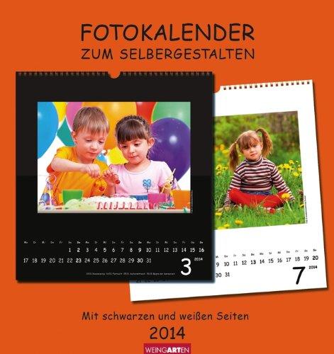 Fotokalender zum Selbergestalten 2014. Mit schwarzen und weißen Seiten