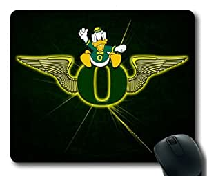 Oregon Ducks on Black Rectangle Mouse Pad by eeMuse by icecream design
