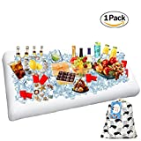 1 Pack Inflatable Salad Bar Buffet Ice Cooler Beverage Serving Bar Food Drink Holder for Party Picnic BBQ Luau with Drain Plug by Wisewife