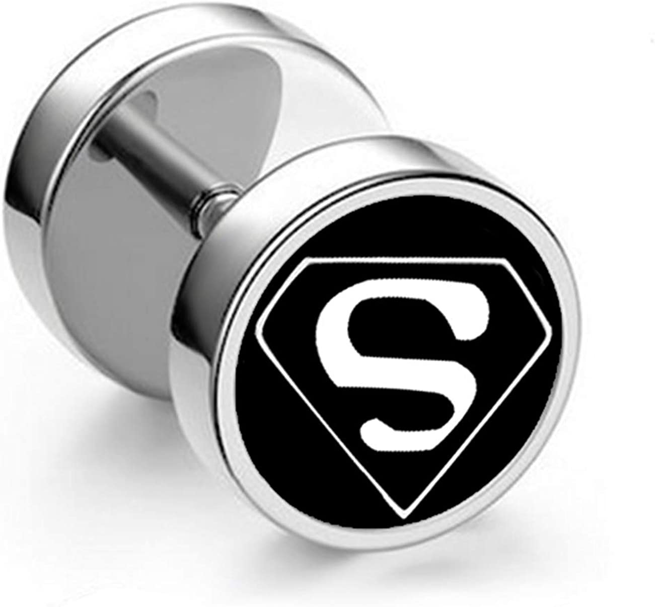 SL SweetLove Punk Style Round Screw Stud Earrings Set Titanium Stainless Steel Cool Pierced Earring for Men Women Girls Boys
