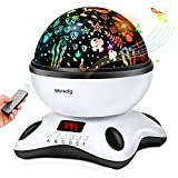 Moredig Projector Night Light Lamp with LED Timer and Remote Control,8 Colors Star Projector Light for Kids Adults Sleeping Aid, Best for Birthday,Christmas Gift Toys(Black & White)