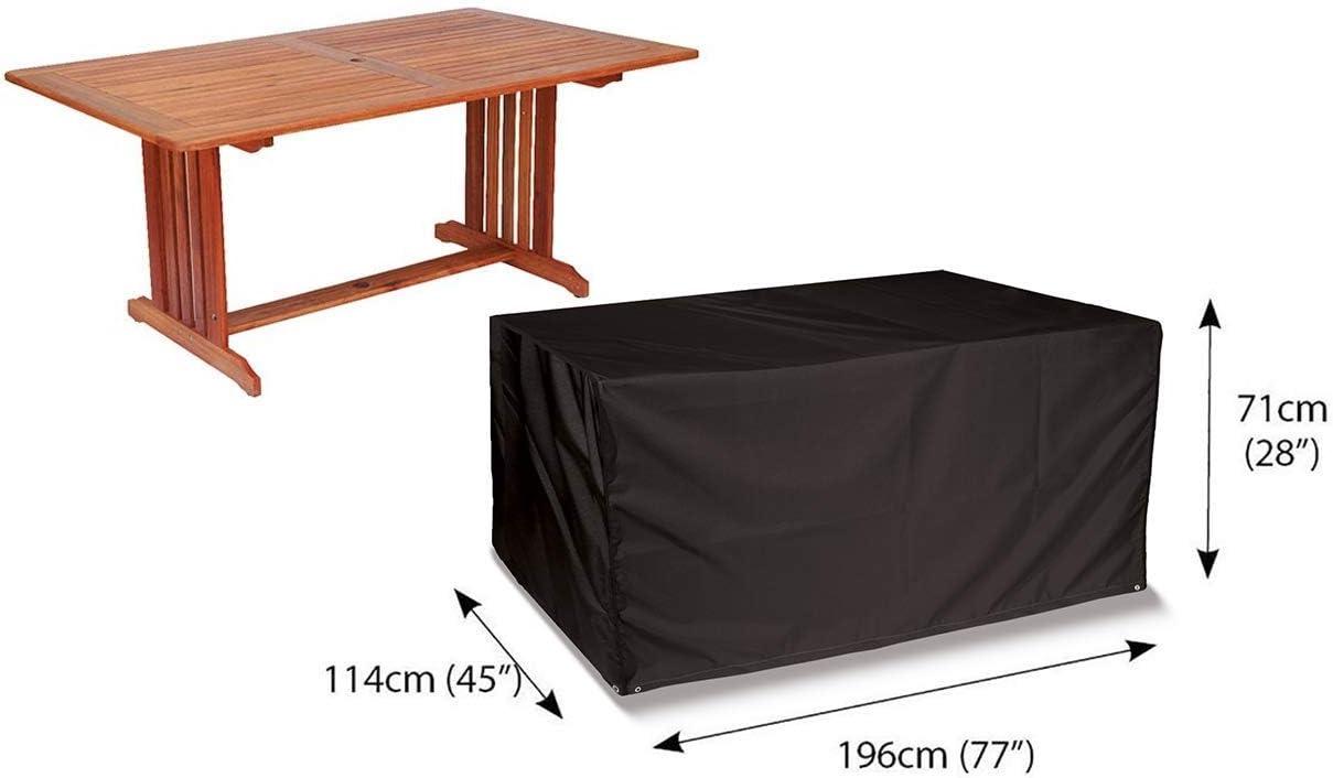 Bosmeres STORM BLACK 6 Sitz Rechteckig Tisch Abdeckhaube Schwarz