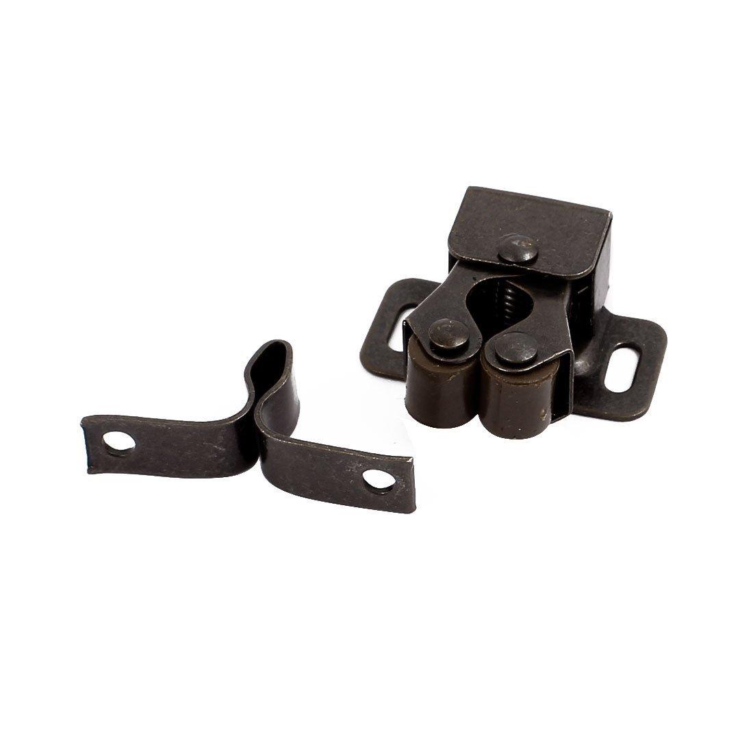 eDealMax Armoire Cabinet Porte Double roulement à Rouleaux Catch 35x28x12mm Loquet 20pcs Bronze