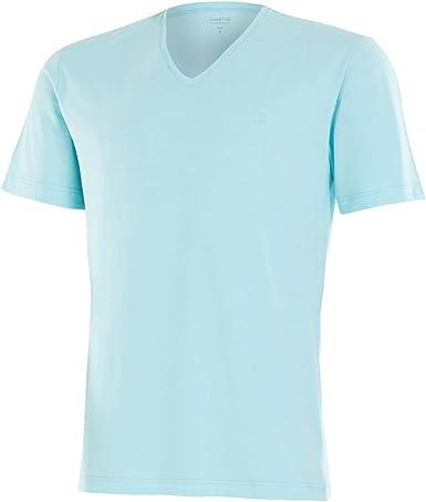 IMPETUS Camiseta algodón Manga Corta Turquesa Azul L: Amazon.es: Ropa y accesorios