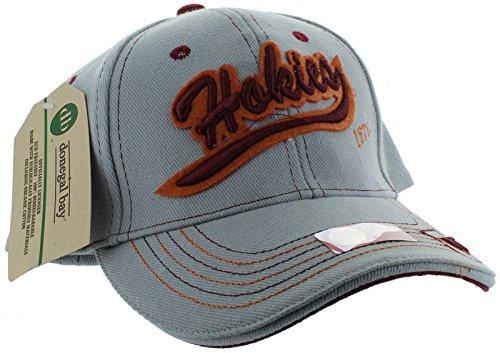 新しい。Virginia Tech Hokies Adjustable Back帽子刺繍キャップ – グレー   B01HZYB91W