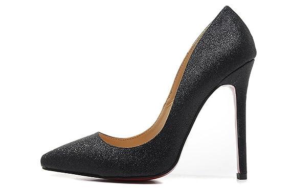 WANMI Wedding Women s So Kate Glitter Mini 120 mm Sexy Shoes Black Evening  High Stiletto Heel 188e6846b0