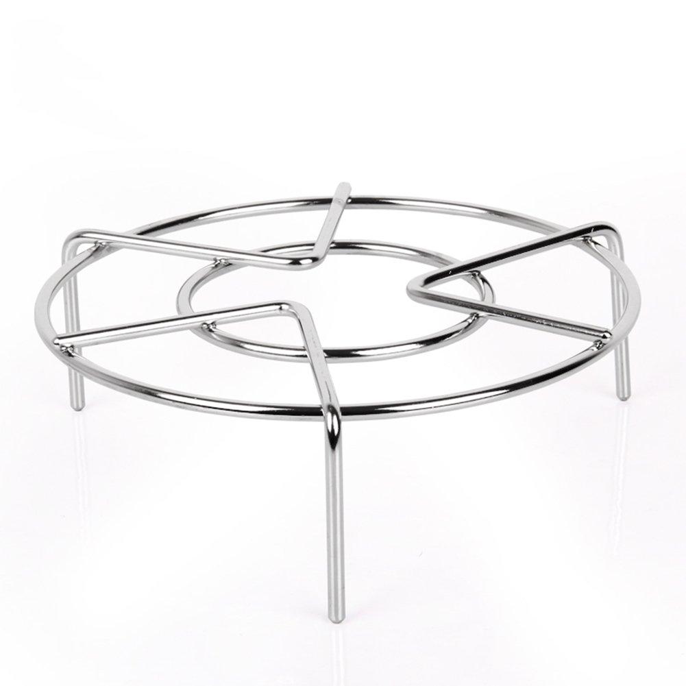 "Steam Rack,Steaming Rack Stand,Steamer Basket,Heavy Duty Stainless Steel Metal Multi-function By Meleg Otthon (5.9"" Diameter X2""High)"