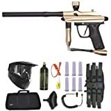 Azodin Kaos Paintball Marker Gun 3Skull Sniper Set - Gold/Black