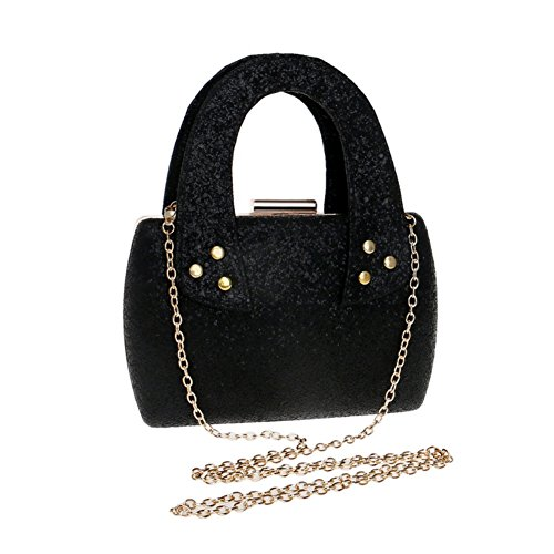 Handbag For Clutch Sequined Bag Purse Wedding Women Wedding And Evening Party Party Black BwaIgIU6q