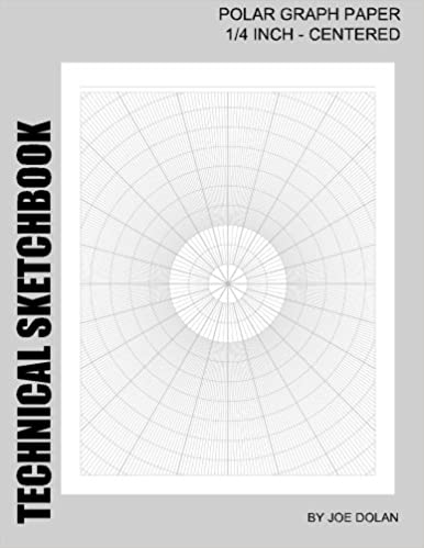 Amazon.com: Technical Sketchbook: Polar Graph Paper - 1/4 Inch ...