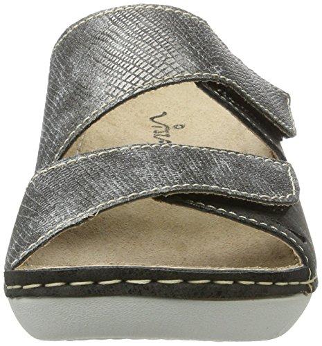 Vista 69-cb09 - Mules Mujer Grau (Grau/Metall)