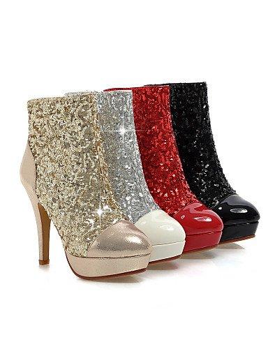 5 Casual Rojo Moda Golden Zapatos Y Botas De Uk8 A Eu42 Tacón Trabajo La E Oficina Cn43 Vestido Stiletto Xzz 5 us10 Red Semicuero Mujer Plataforma 5 us10 negro 6UqzAxTfn