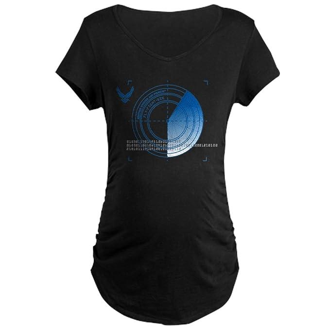 7b6a34284a CafePress USAF Fly Fight Win Maternity Dark T Shirt Cotton Maternity T-Shirt,  Side