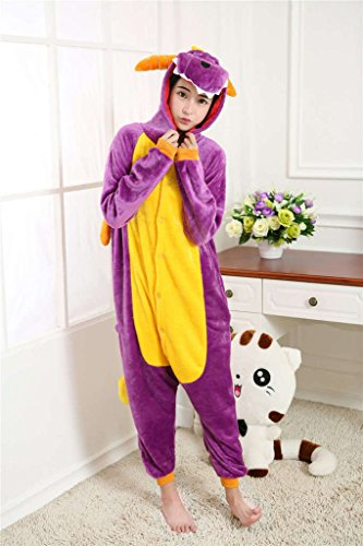 Mangogo Kawaii Children Cartoon Costumes Purple Dragon (Koala Kids Dragon Costume)