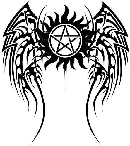 Supernatural Sam /& Dean Demon Protection Symbol Bumper Vinyl Car Sticker