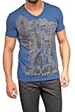 Replay Graphic Tee , Color: Dark blue, Size: M