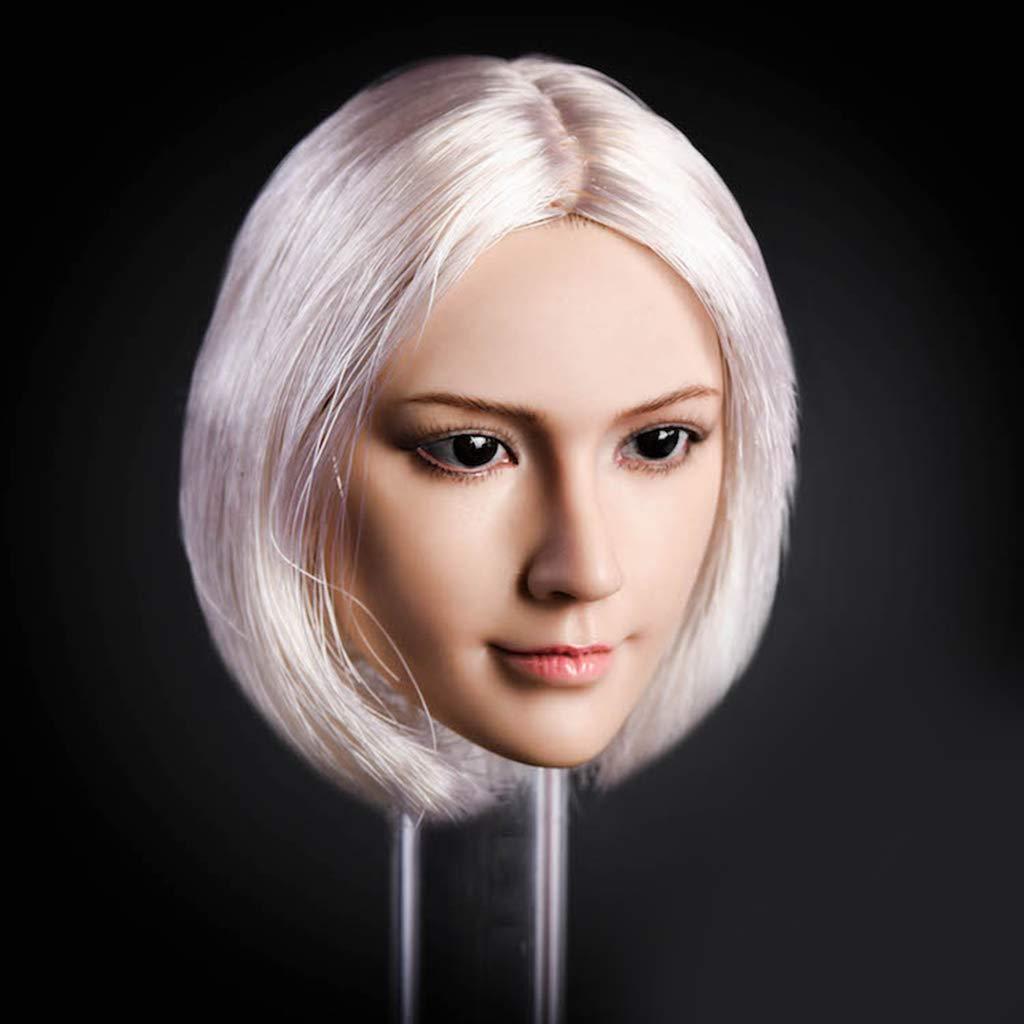 cy chiwanji 1//6 Weiblicher Kopf Haare Soldier K/örperteile Zubeh/ör f/ür 12 Zoll hot Toys phicen Golden kumik